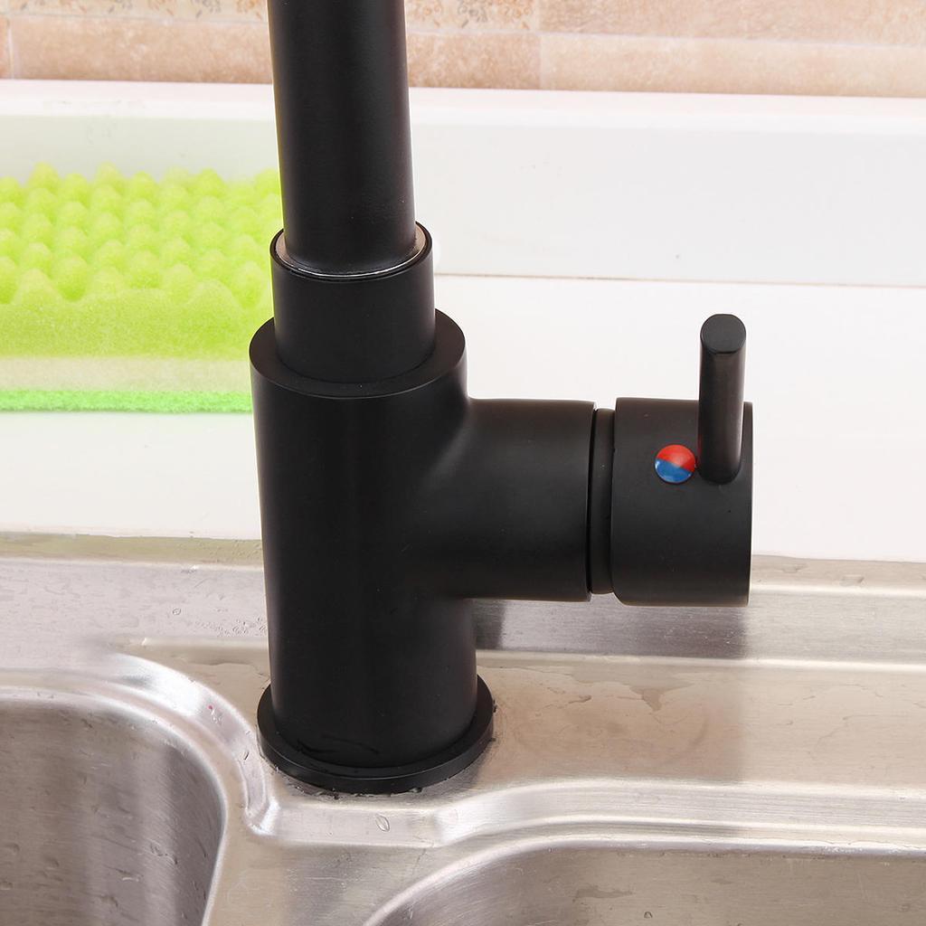 Schwarze Küche Spüle Eitelkeit Swivel ausziehbarem Auslauf Dusche ...