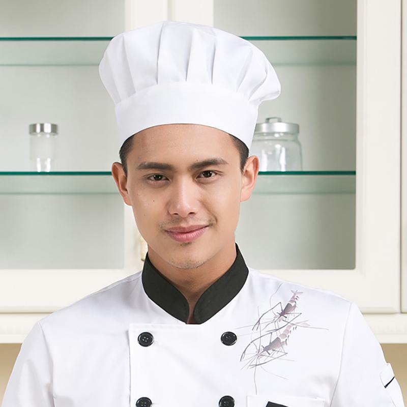 Gorra de elástico panadero cocinero sombrero cocina Chef ajustable ... 7cf8a49d515