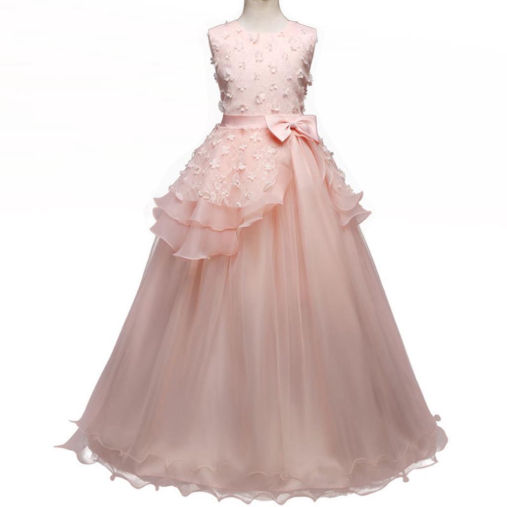 Vestido de niña de las flores desfile fiesta comunión niñas niños ...