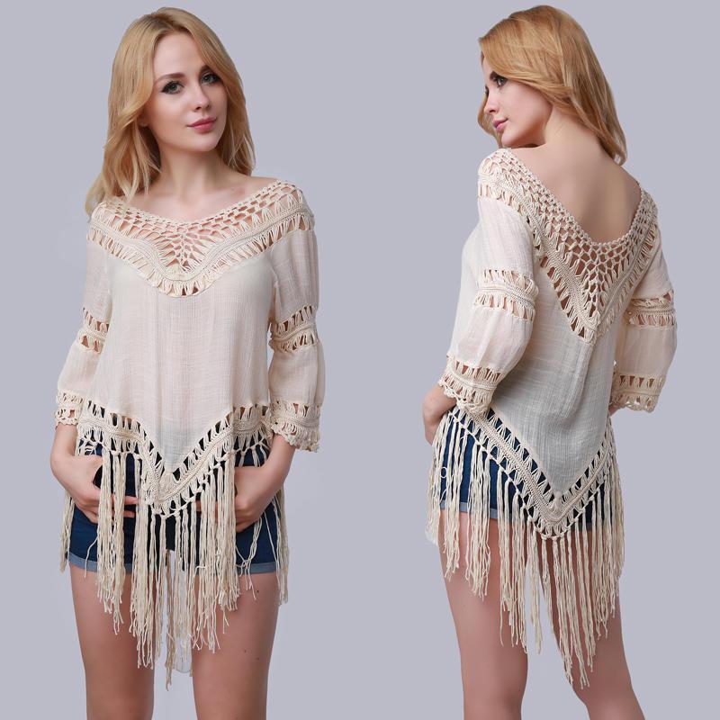 Las mujeres sólido Color bufanda chal marca playa encubrimiento Sexy ...