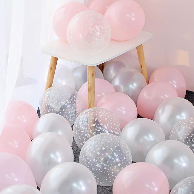 Набор из 30 шт. латексных воздушных шаров для украшения праздников, торжеств фото