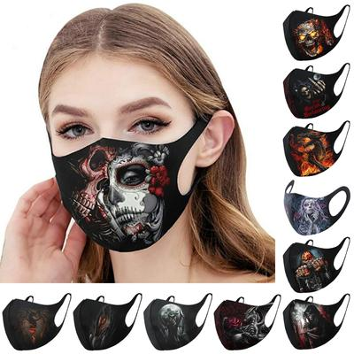 Unisex Funny Accessories 3D Printed Decorations Skull Masks Face Masks Masquerade Festival Party