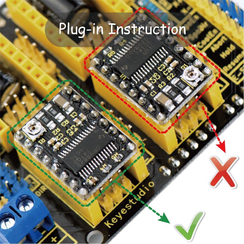 Mega//UNO keyestudio Stepper Motor Driver Board TB6560/Stepper Motor Shield f/ür Arduino Starter Kit
