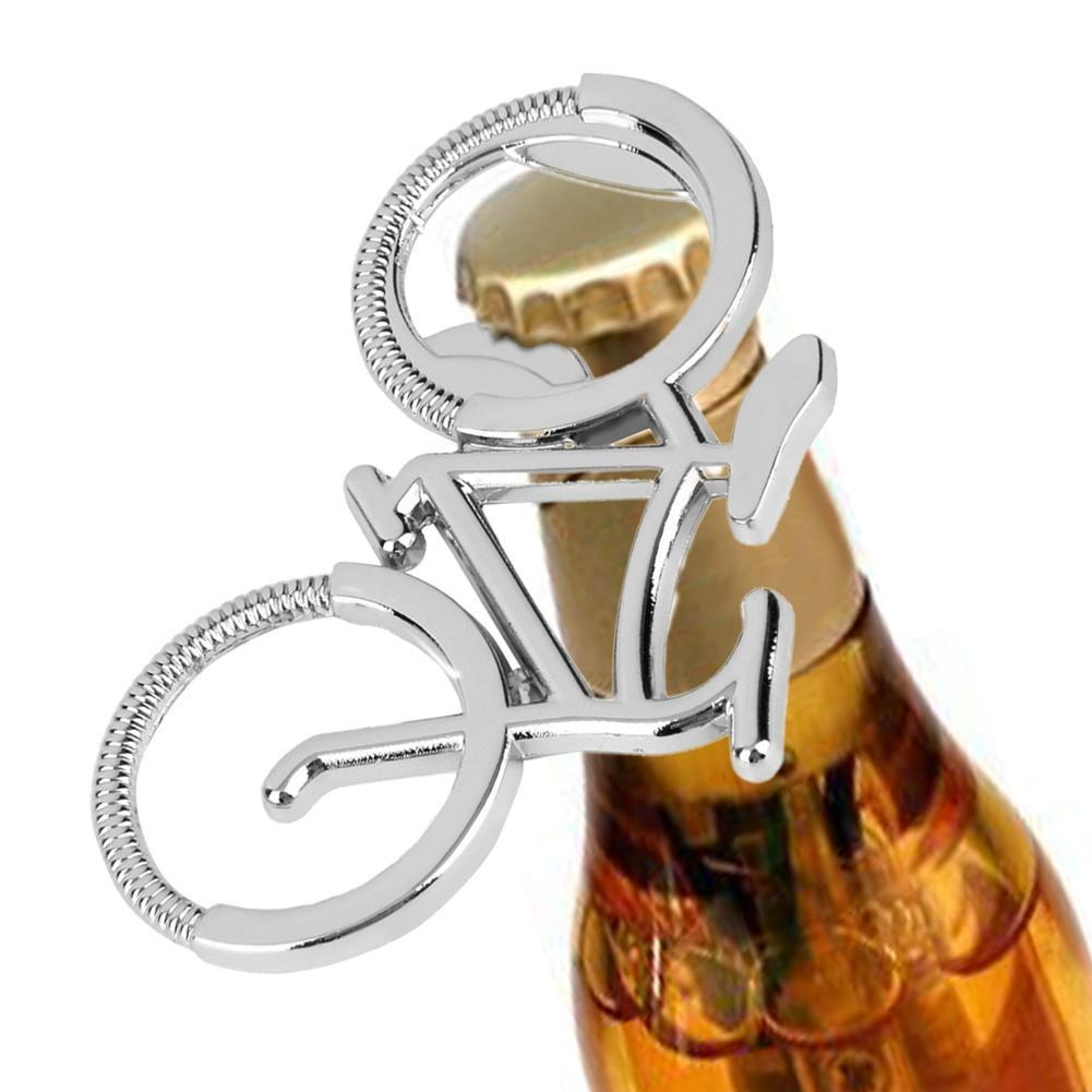 Metal BAR Barware KeyChain Key Ring SILVER Coloured BOTTLE OPENER KEYRING