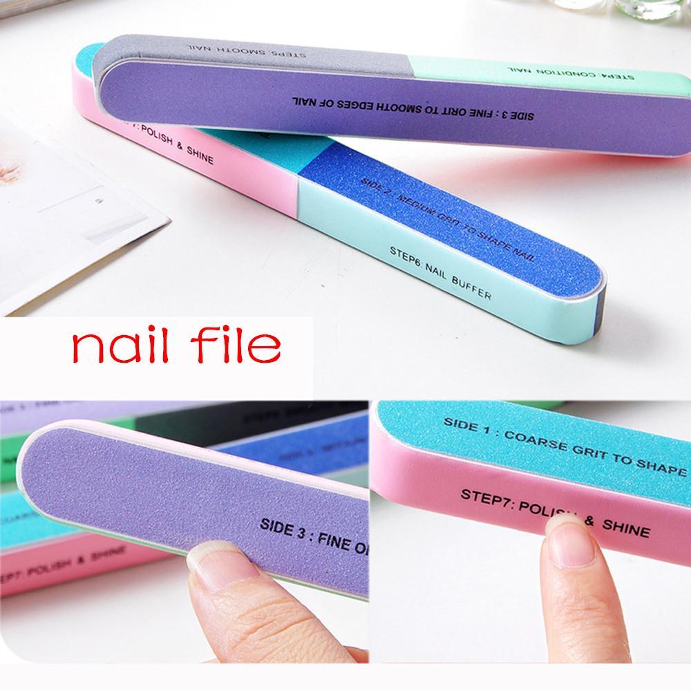 Creative ногтей файл шлифовальный шестисторонняя полировка инструмент