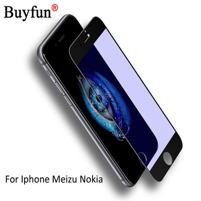 Premium Screen Protector Full Cover Tempered Glass For Apple Iphone Meizu Nokia Case Film