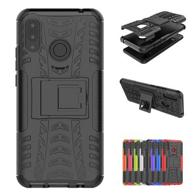 Luxury Cover TPU +PC Phone Stand Rugged Hybrid Duty Armor Shockproof Hard Kickstand For Huawei