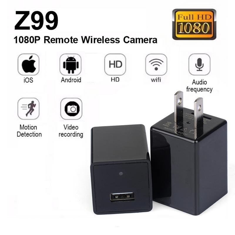 Z99 1080P HD Hidden Camera WIFI Wireless Socket USB Mobile Phone Charger 1080P HD Camera USB Ca