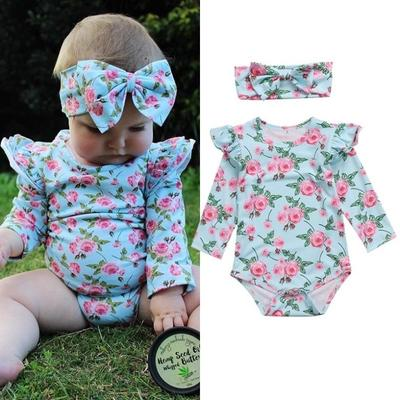 3f8ffcfcae4c Newborn Kids Baby Girls Floral Clothes Jumpsuit Romper Bodysuit Playsuit  Outfits