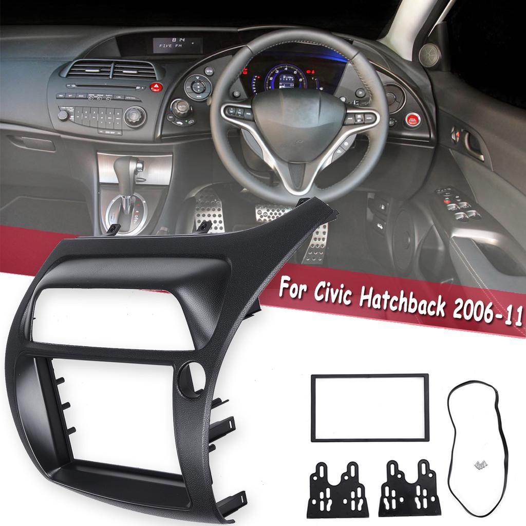 2 DIN Car Radio Left Hand Panel Frame Fascia for Honda Civic Hatchback 2006-2011
