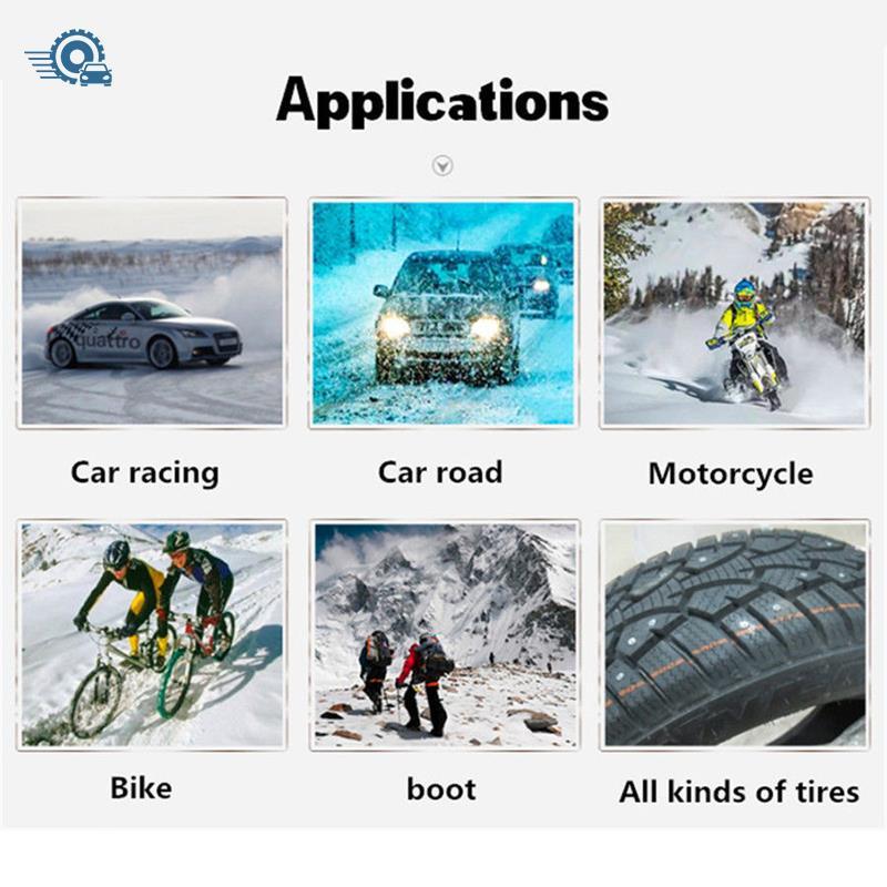 50 Pcs Car Truck Snow Motorcycle Wheel Tyre Anti-slip Spikes Tire Studs Screws