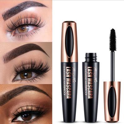 4d Silk Fiber Eyelash Mascara Waterproof Thick Lengthening Mascara Curling Long Black Extension