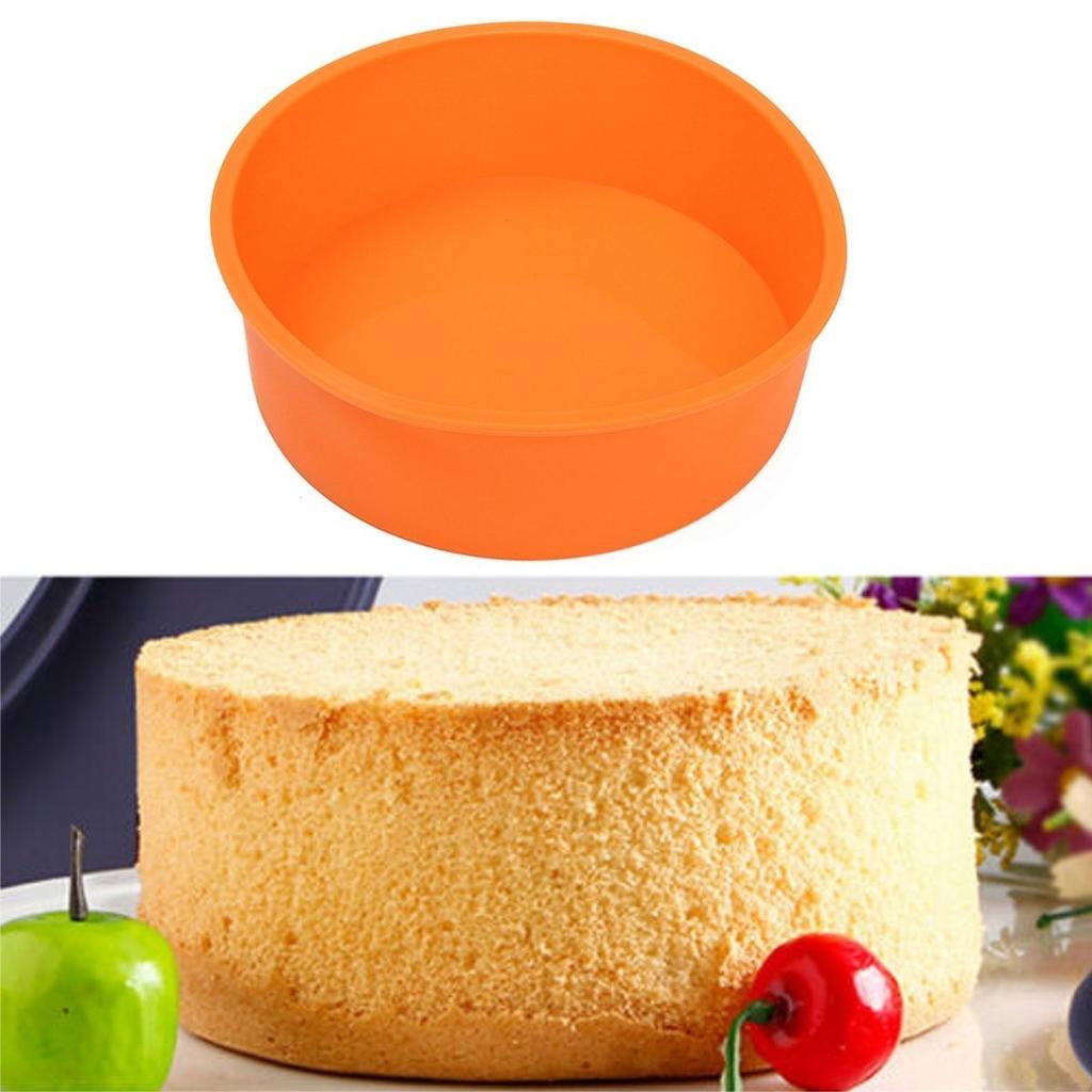 现货供应硅胶烘焙工具 硅胶蛋糕模具 硅胶圆形蛋糕烤盘 慕斯模具
