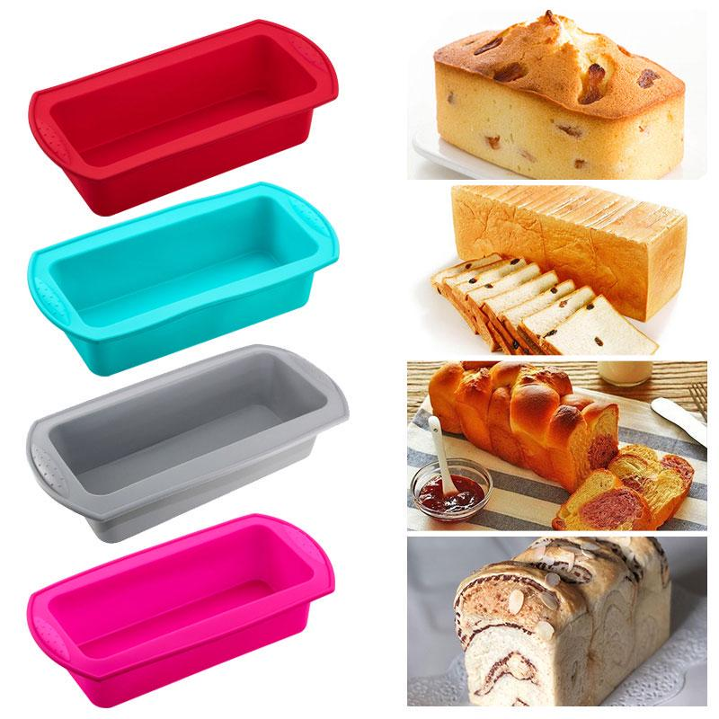 Toast Bread Food Grade Silicone Molds Rectangle Loaf Pastry Baking Pan Healthy 1