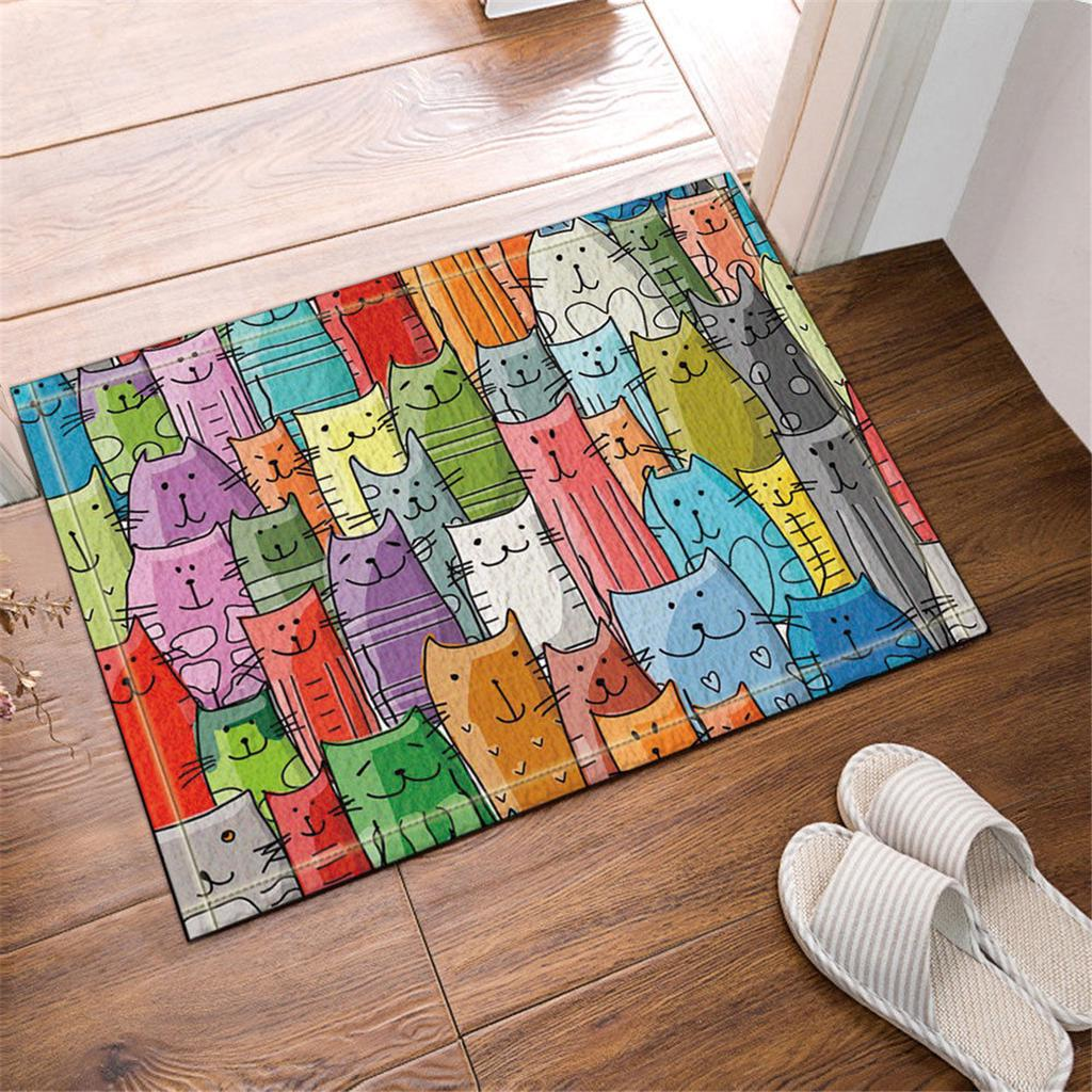 60x40cm Cartoon Cute Cat Waterproof Polyester Bathroom Decor Shower Mat Buy At A Low Prices On Joom E Commerce Platform