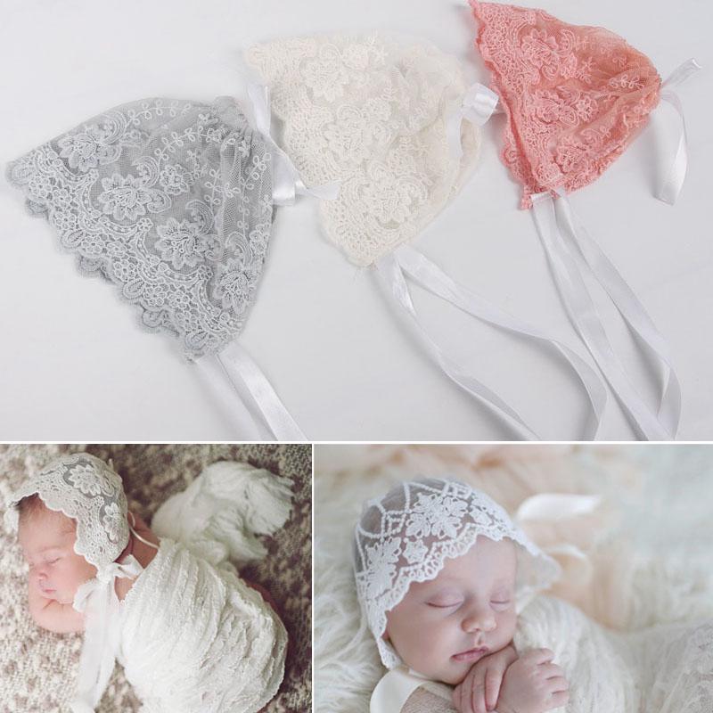 Gorra ajustable niño de algodón sombrero gorro de fotografia accesorios de  encaje recién nacido niños bebé bonito