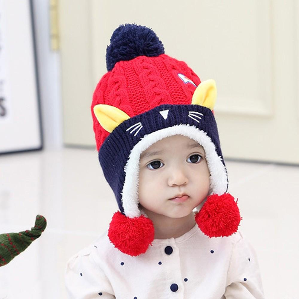 Kids Unisex Children Earflap Hat Animal Knit Cap Winter Warm Casual Daily Hat
