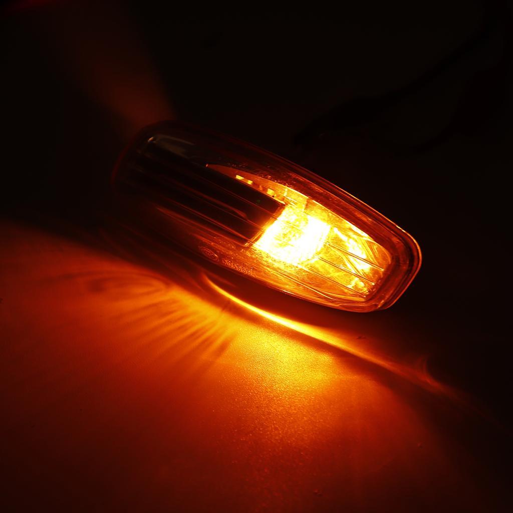 2x Citroen C6 18-LED Front Indicator Repeater Turn Signal Light Lamp Bulbs