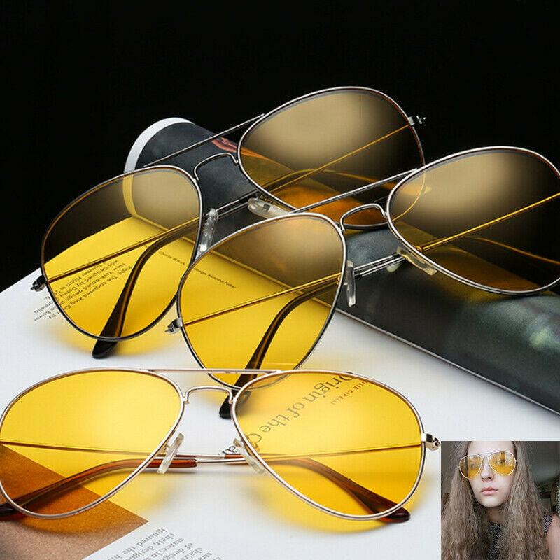 Adult Yellow Sunglasses Tinted Lens Shades Unisex Stylish Sunnies UV400 AW007