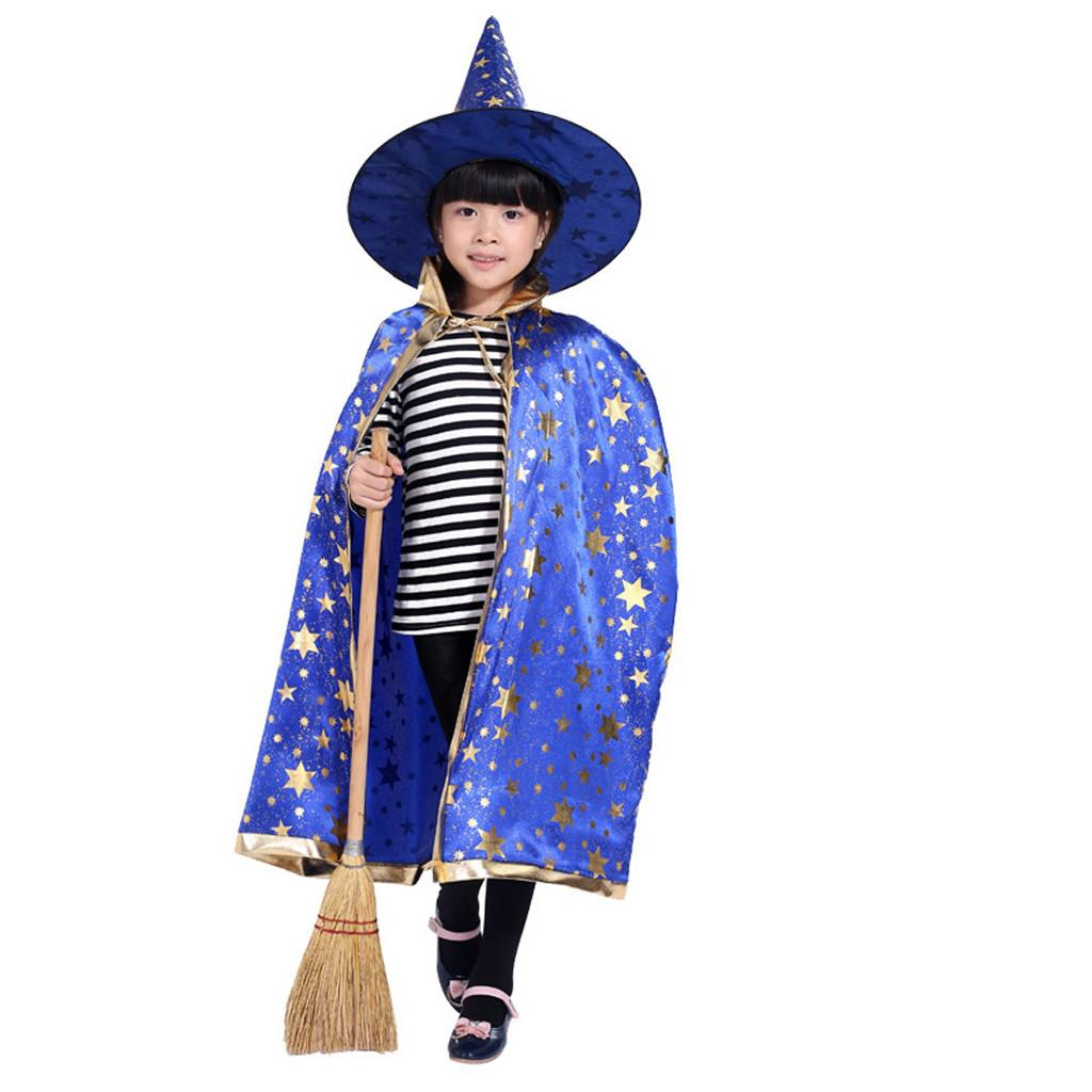 Girls Princess Witch Costume Child Halloween Witches Fancy Dress 3-10 Years New