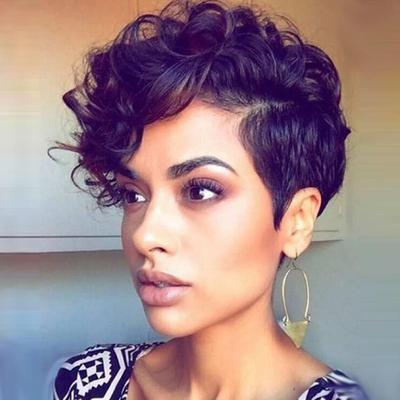 Black Synthetic Curly Wigs For Women Short Afro Wig African American Natural Buy At A Low Prices On Joom E Commerce Platform