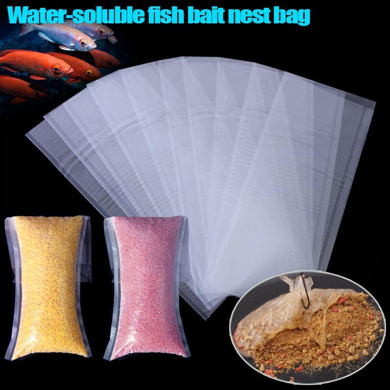 40//20PCS PVA Water Soluble Bait Bag Fishing Nest Tackle Carp Bait Dissolving