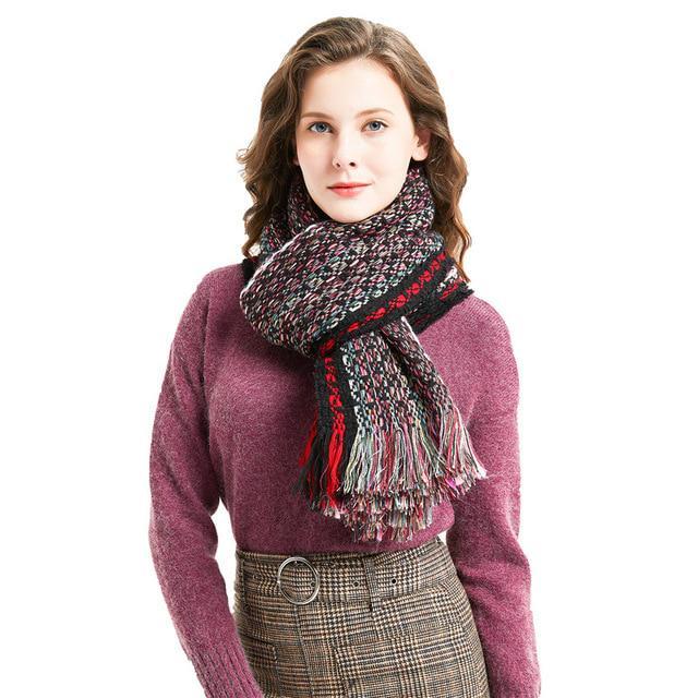 Siete colores bufanda Echarpe mujer bufandas y abrigos de moda ... b5245f951ab