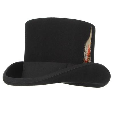 ca346440 British Style Men And Women Wool Fedora Steampunk Top Hats With ...