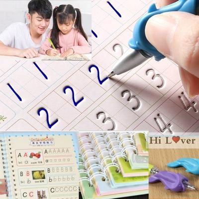 1Set Magic Writing Paste Children's Kindergarten Grooves Post Before School Hard Pen Writing Board