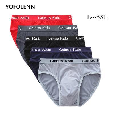 Breathable Mesh Silk Men's Underwear Briefs Men Bamboo Fiber Mens Bodysuit Male Comfortable Solid Underpants
