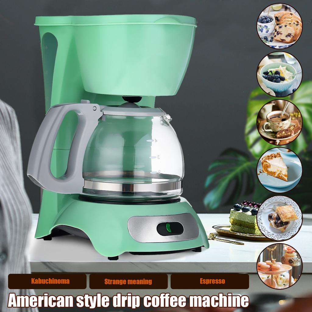 Household Coffee Machine Small Drip Coffee Machine Automatic Heat Preservation For 4 6 People 650w Buy At A Low Prices On Joom E Commerce Platform
