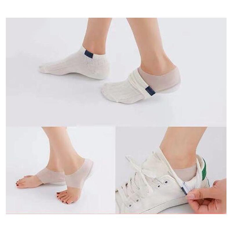 Invisible Height Lift Heel Pad Sock Liners Increase Insole Pain Relieve Care*