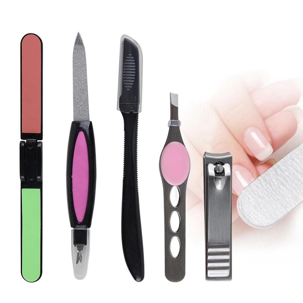 Uñas arte manicura cuidado Set herramientas con dedo Mini cortadora ...
