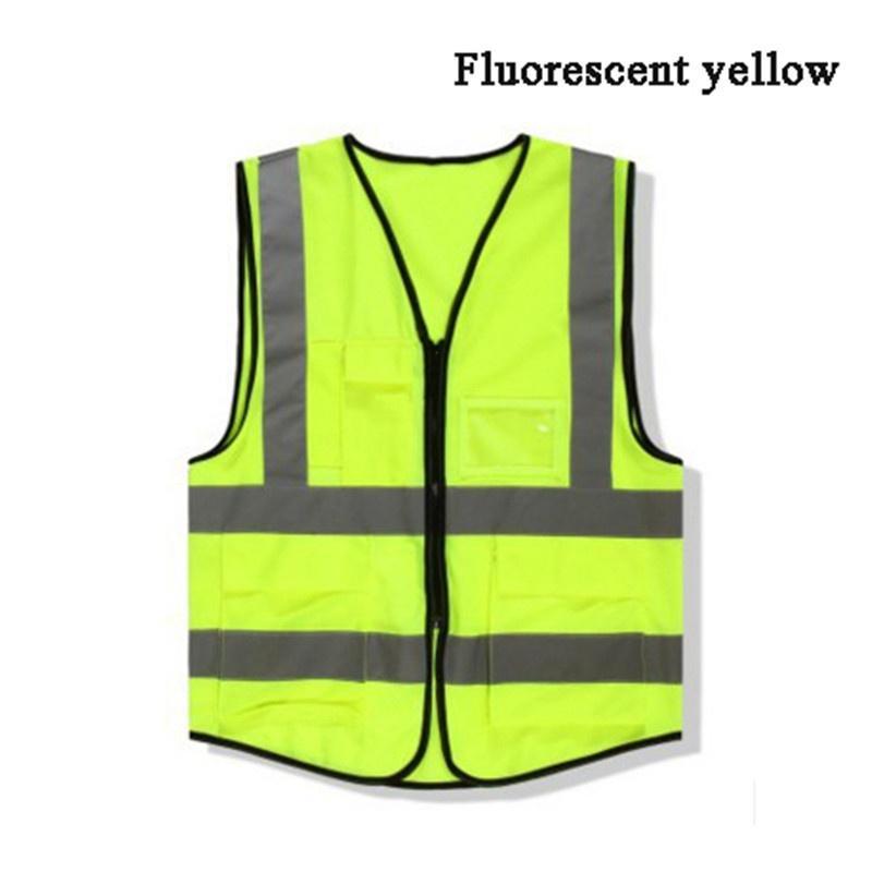 1 pc Salut Vis Gilet Jaune Orange Visibilité élevée Gilet de sécurité travail