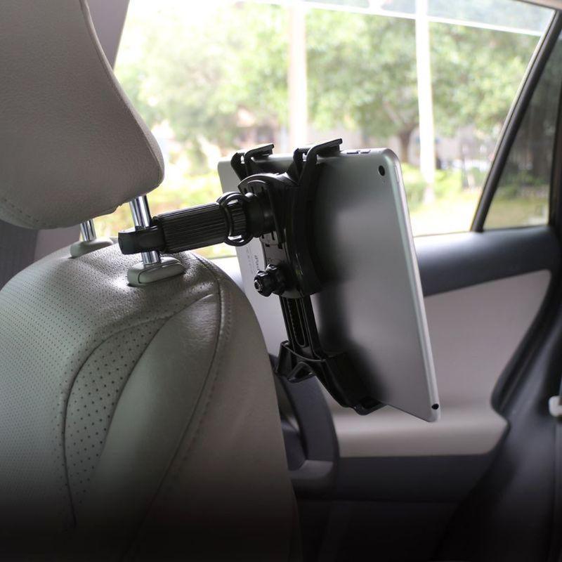 Universal Car Headrest Mount Back Seat Tablet Holder Bike Music Mic Pole Cradle
