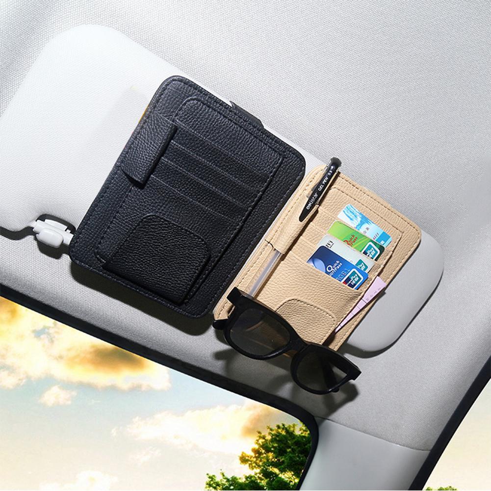 Автомобиль Sun Visor Организатор Хранения Сумка Карманные очки Топливные карты Держатель