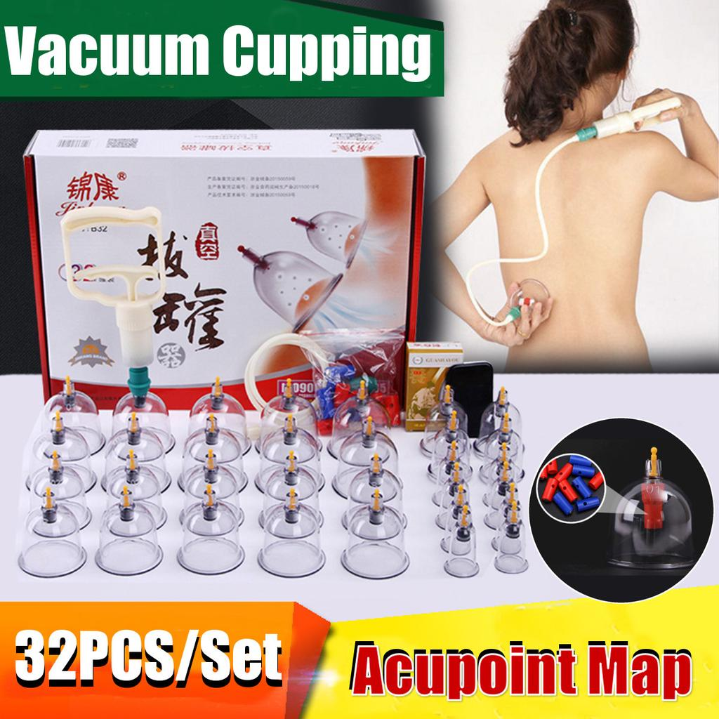 5x Silicone Vacuum Cup Anti Cellulite CHINA Cupping Jar Massage Medical Care Set