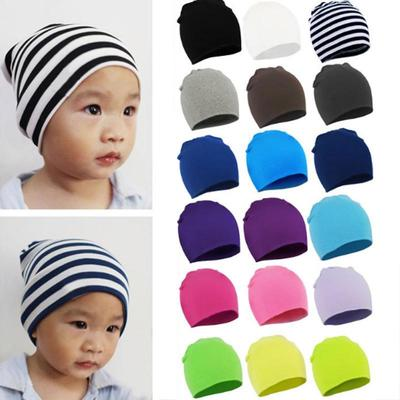 25ee2b30ac6 New Autumn Winter Warm Cotton Baby Hat Girl Boy Toddler Infant Kids Caps  Brand Candy Color