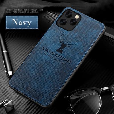 Fashion Imitation Denim Lucky Elk Pattern Soft TPU Rubber Case Cover iPhone 13 12 11 Pro Max SE 2020 7 8 X