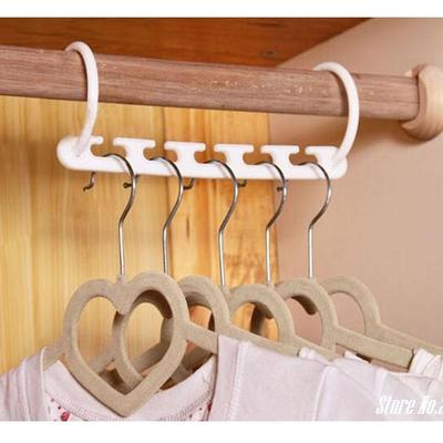 Space Saver Wonder Magic Clothes Hanger Rack Clothing Hook Organizer Set (Color :White )