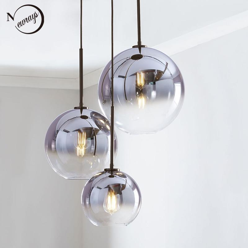 Modern Nordic Glass Pendant Light Led, Modern Glass Hanging Lamps