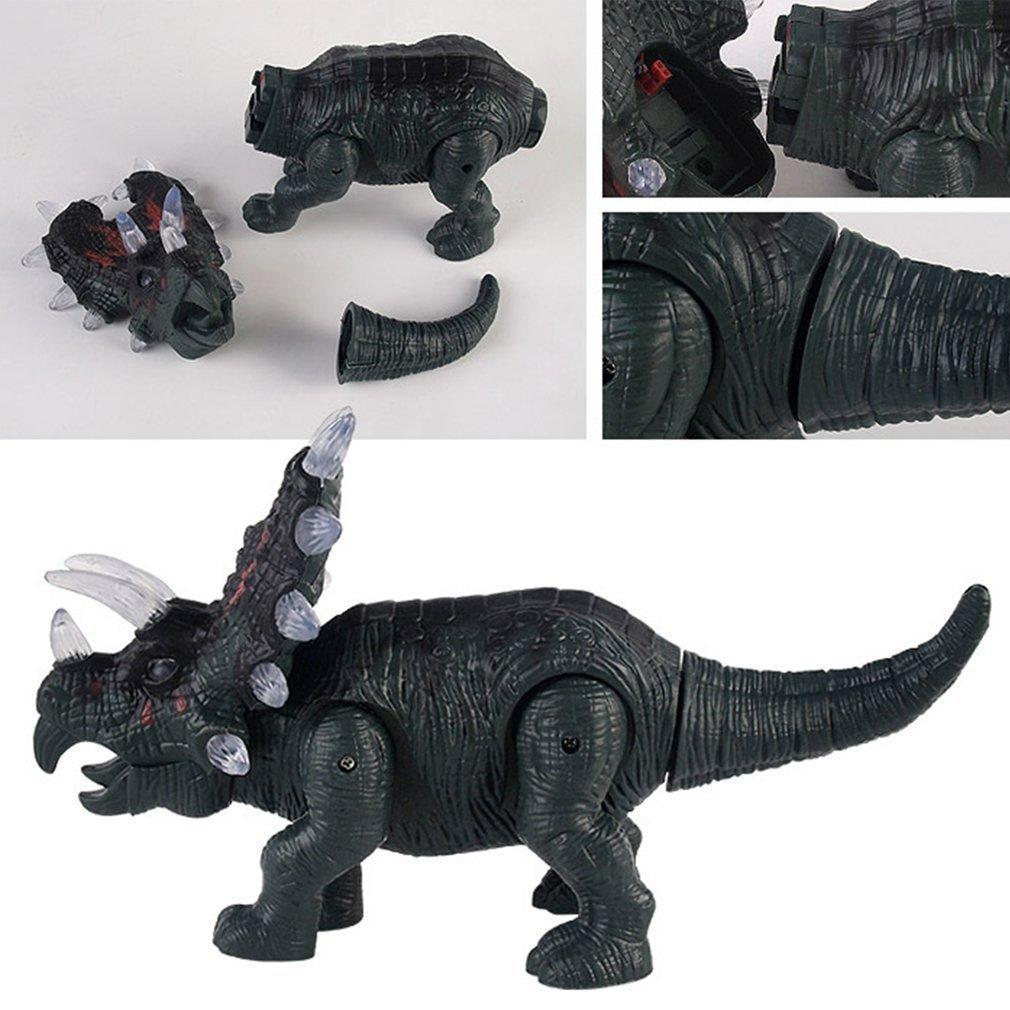 Animals & Dinosaurs 1pc Interactive Novelty Electric Walking Sound Triceratops Toy Simulation Model