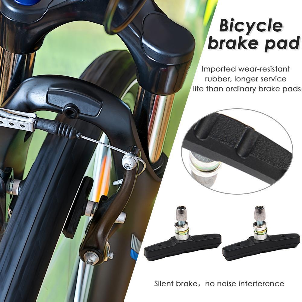 1 Pair Bike Bicycle Brake Pads Bicycle Braking V-Brake Holder Shoes Rubber Y`US