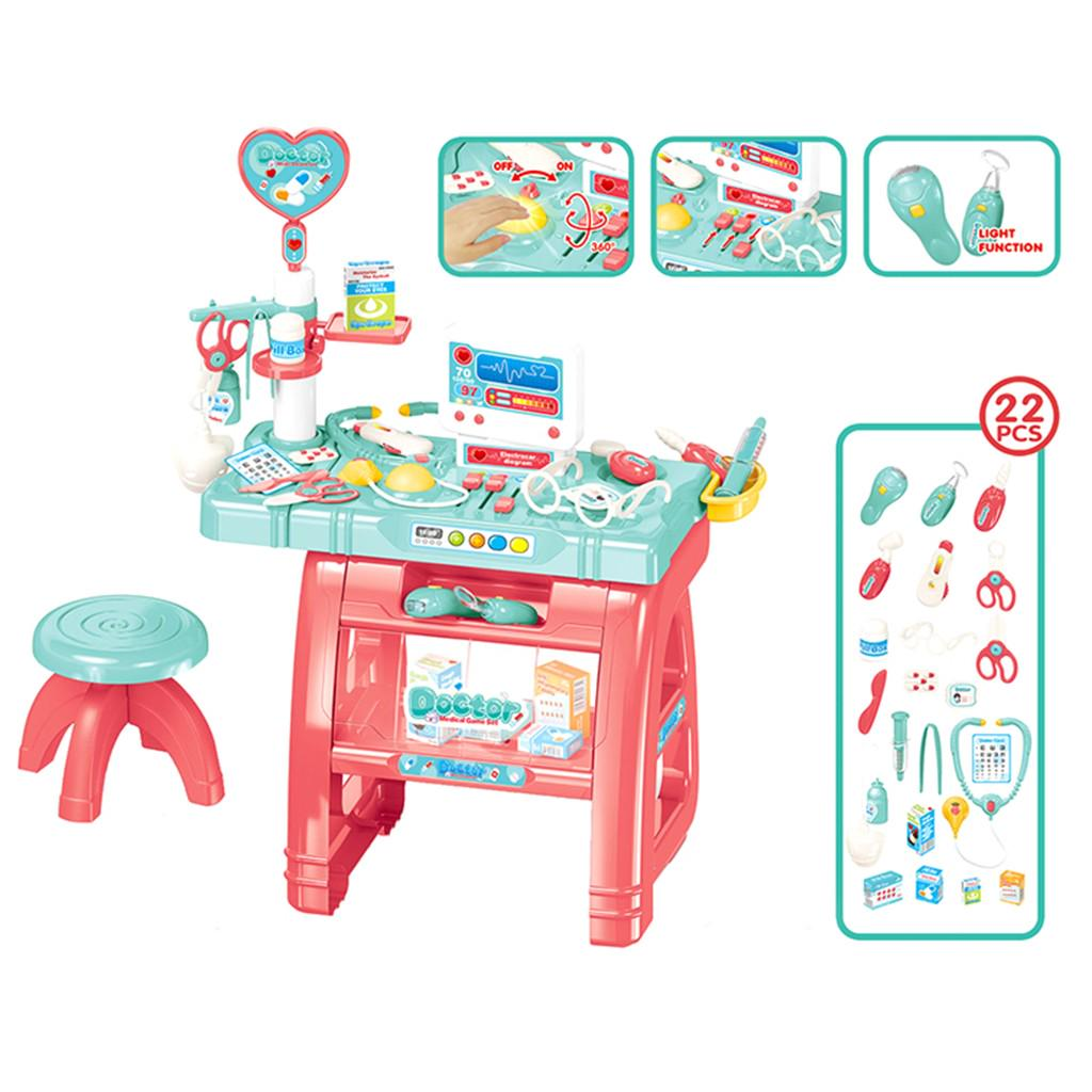 Doctor Pretend Play Set With Electric Analog X-Ray Screen And Stethoscope Set  B