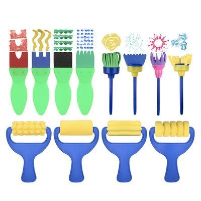42PCs Kids Paint Brushes Sponge Painting Brush for Children Toddler Toy Tool Set