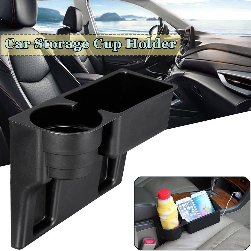 Universal Black Drink Cup Bottle Holder Beverage Seat Seam Wedge Car Truck-Mount