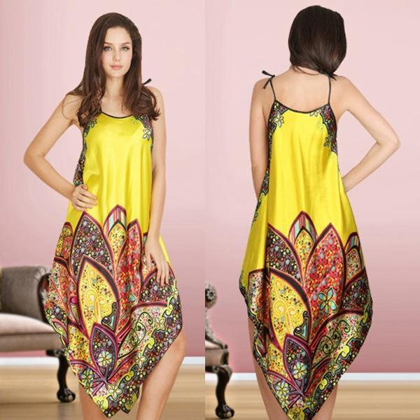 Sexy Pajamas Women Imitated Silk Sleepwear Robes Dress Night Skirt Nighty  Nightgowns-buy at a low prices on Joom e-commerce platform a4a33f206