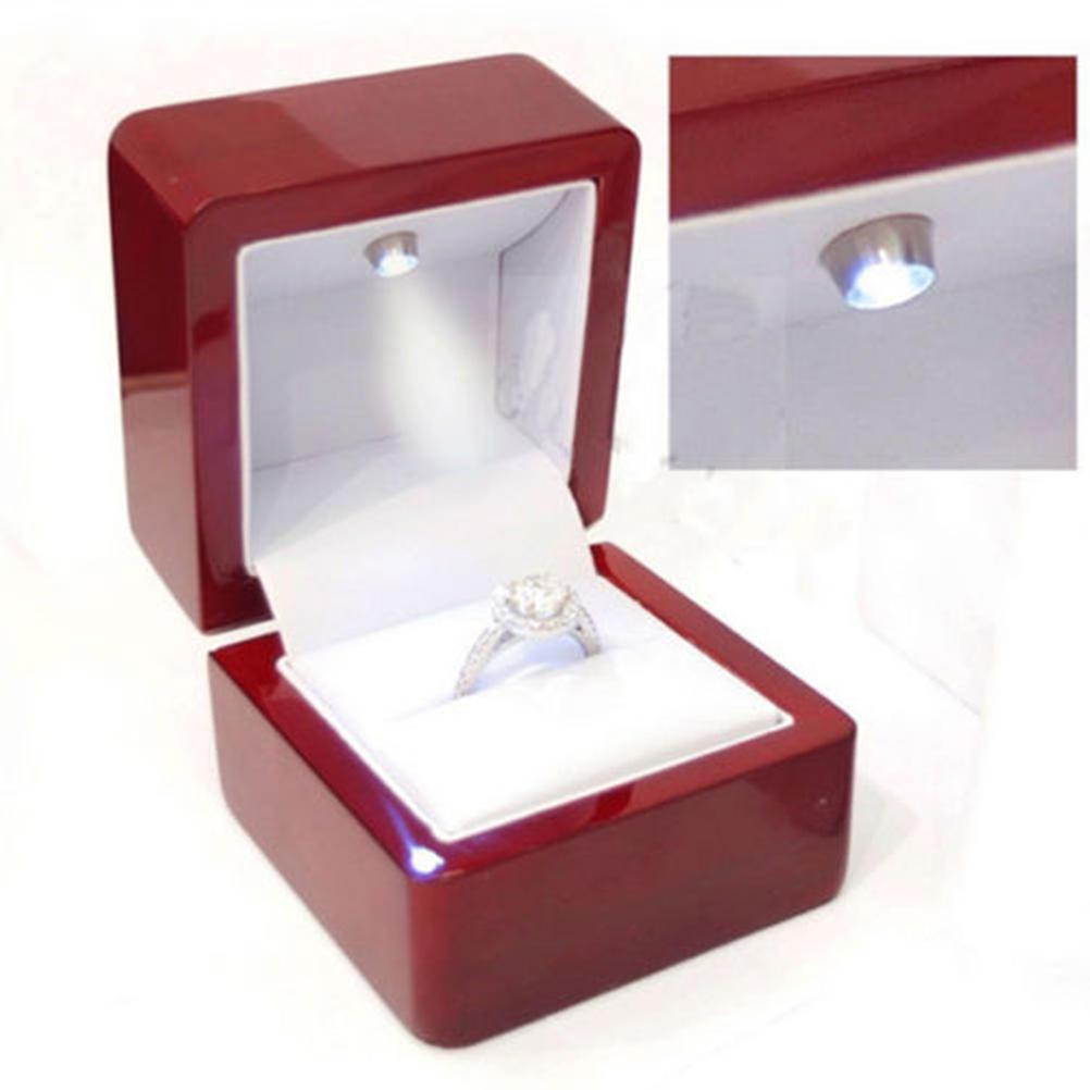 Schmuck-Box Ohrring Box-Ring Boxen Red-10 St/ück