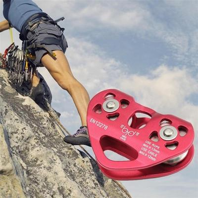 20KN Mountaineering Rock Climbing Downhill Rope Pulley Fall Protection Equip