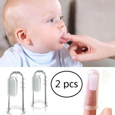 blanc Soins dentaires b/éb/é brosse /à doigt en silicone enfants brosse /à dents clair